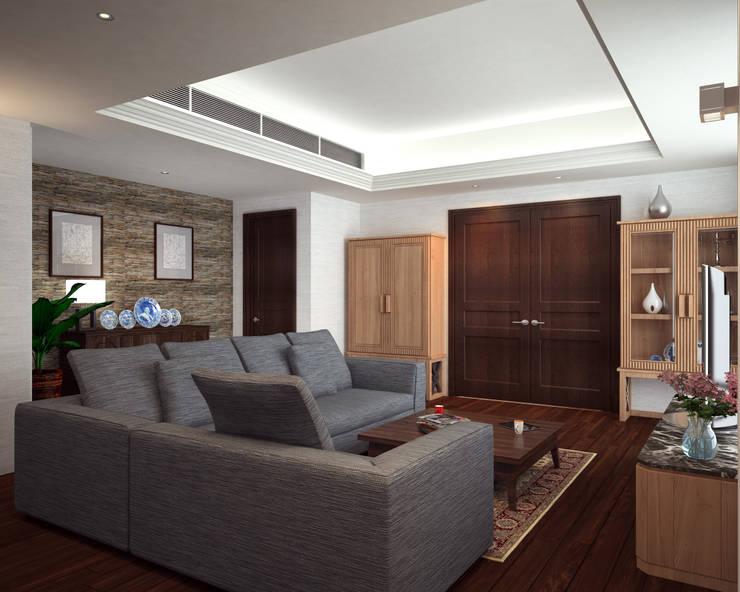 Discovery Primea | Manila:  Living room by Nelson W Design, Modern