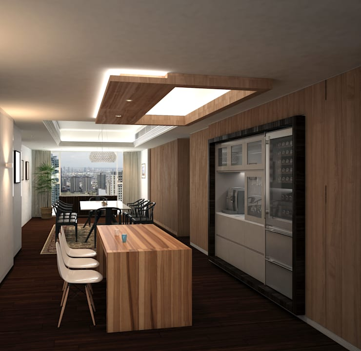Discovery Primea | Manila:  Dining room by Nelson W Design, Modern