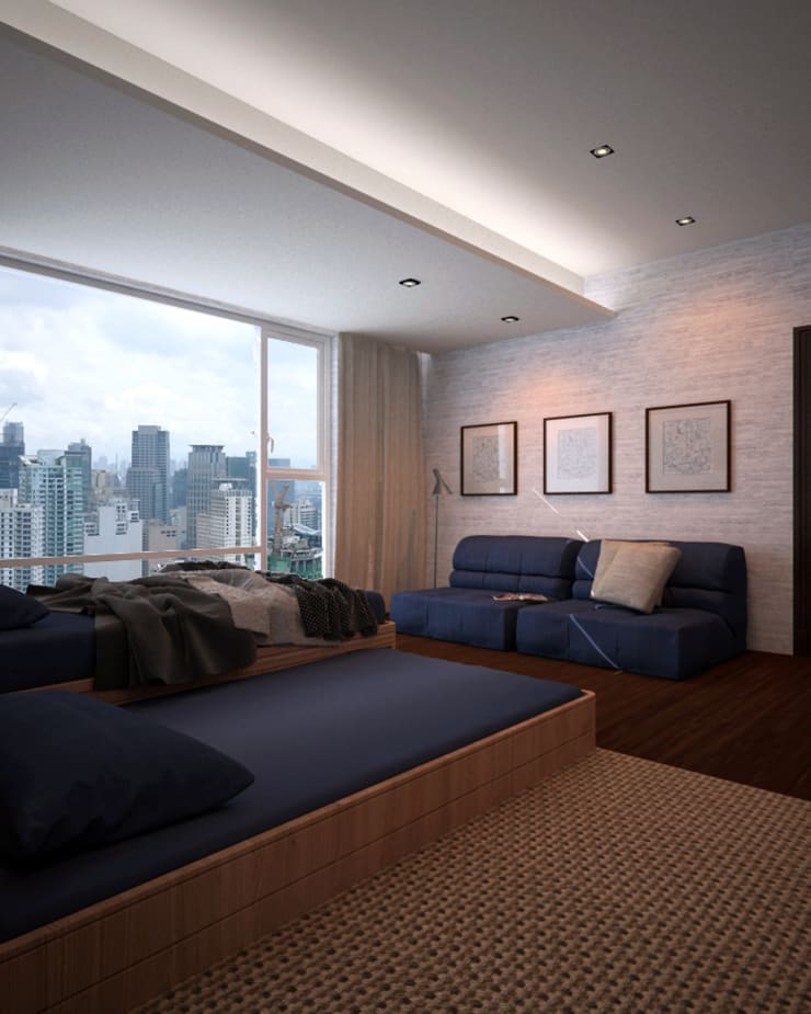 Discovery Primea | Manila:  Bedroom by Nelson W Design