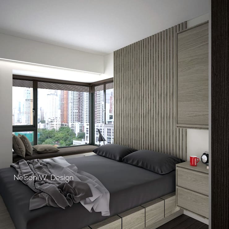 The Long Beach | Hong Kong Modern style bedroom by Nelson W Design Modern