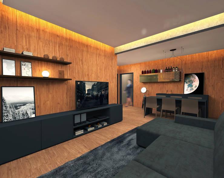 Projeto: Salas de estar modernas por archilabarquitetura