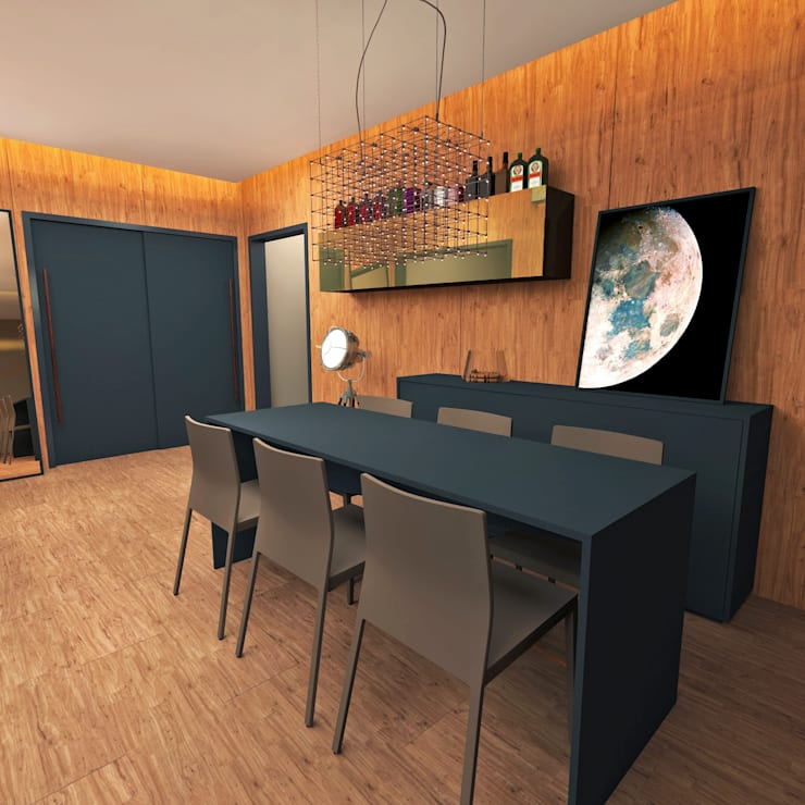 Projeto: Salas de jantar modernas por archilabarquitetura