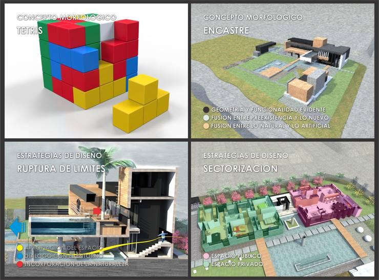 TETRISFALLS:  de estilo  por GGAL Estudio de Arquitectura,