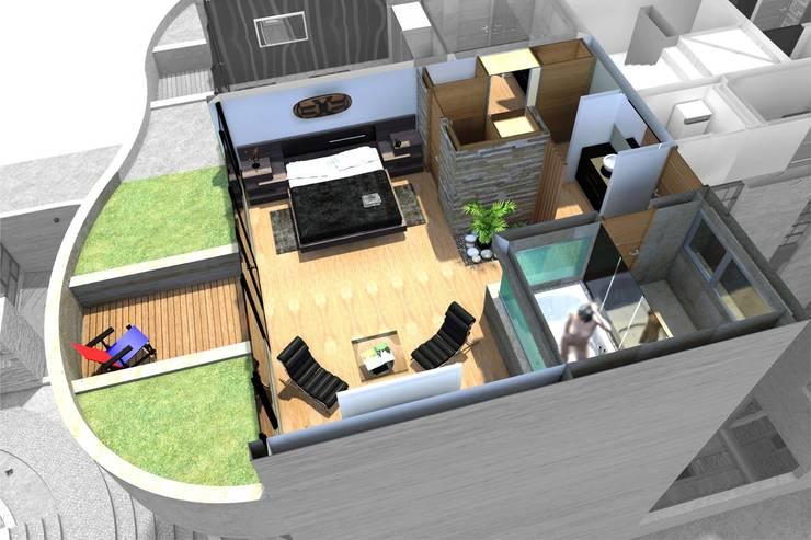 EROSSION: Casas de estilo  por GGAL Estudio de Arquitectura