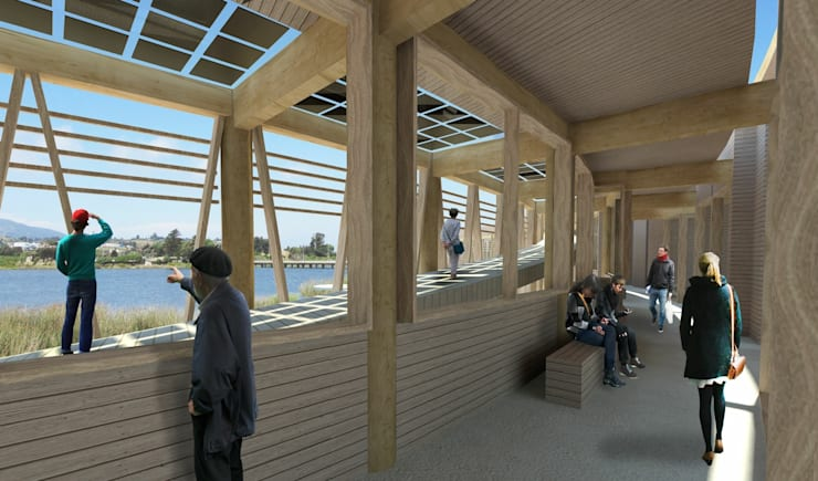 Proyecto de título, estudiante de arquitectura: Pasillos y hall de entrada de estilo  por 3DT Render