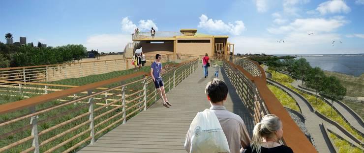 Proyecto de título, estudiante de arquitectura: Terrazas  de estilo  por 3DT Render