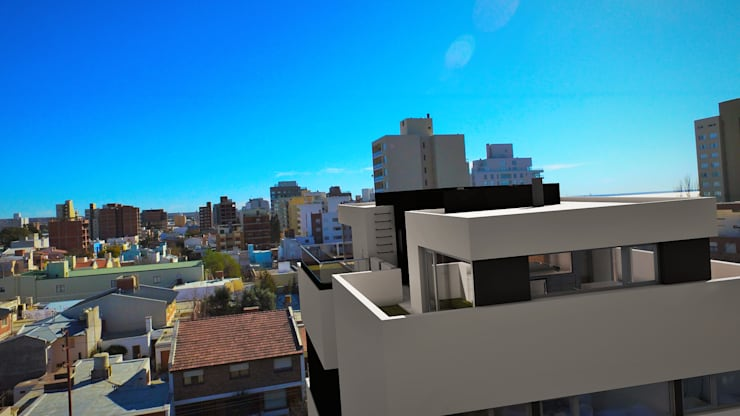 THE BLOCK: Casas de estilo  por GGAL Estudio de Arquitectura,Moderno