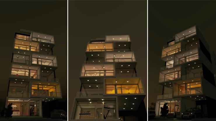 THE BLOCK: Gimnasios de estilo  por GGAL Estudio de Arquitectura,Moderno