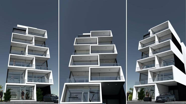 THE BLOCK: Casas de estilo  por GGAL Estudio de Arquitectura