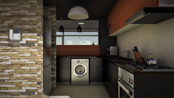 THE BLOCK: Cocinas de estilo moderno por GGAL Estudio de Arquitectura