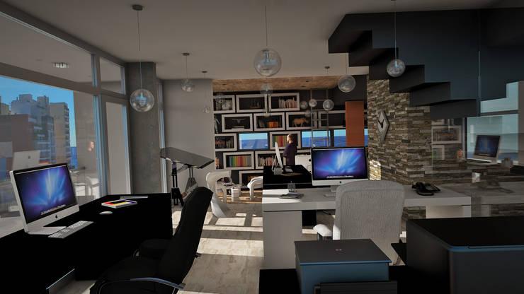 Oficinas de estilo moderno por GGAL Estudio de Arquitectura