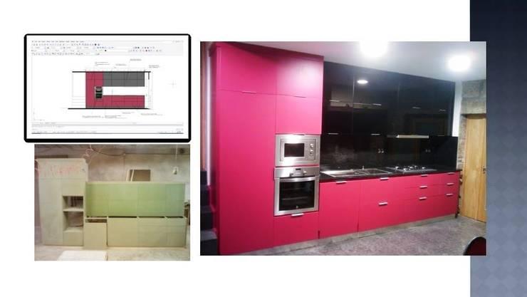 Cozinha MDF Lacada : Cozinha  por SG Indústria de Mobiliário