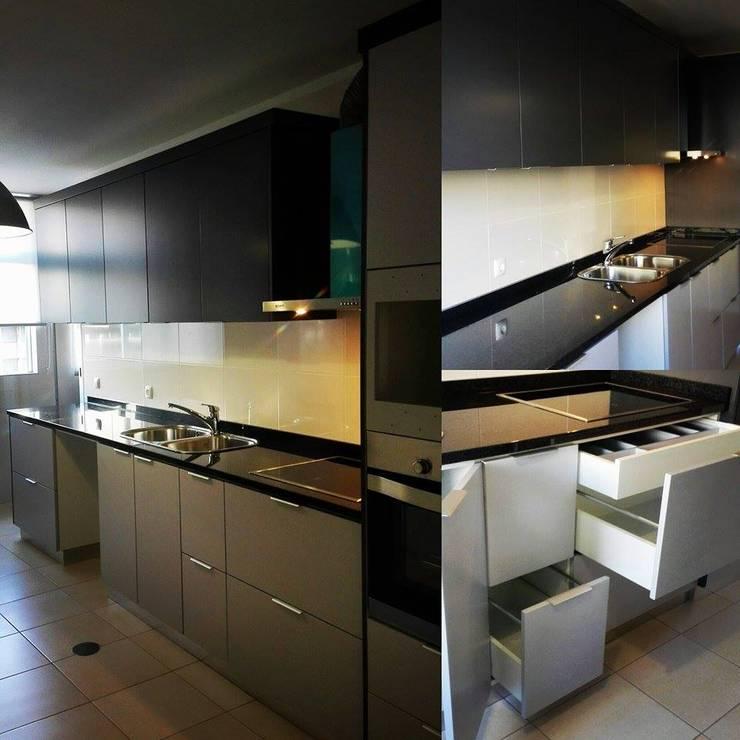 Cozinha Lacado Mate: Cozinha  por SG Indústria de Mobiliário