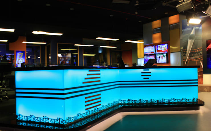 First India News Studio + Office, Jaipur, Rajasthan, India:  Study/office by Studio Code