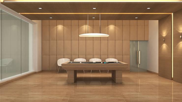 BILLIARDS ROOM:  Walls by De Panache  - Interior Architects,Modern