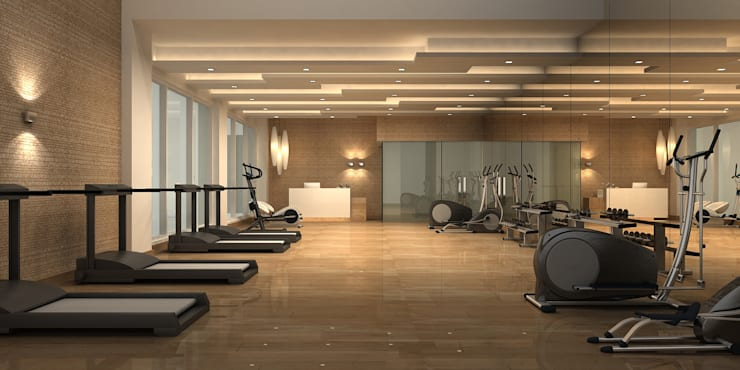 GYM ROOM:  Walls by De Panache  - Interior Architects