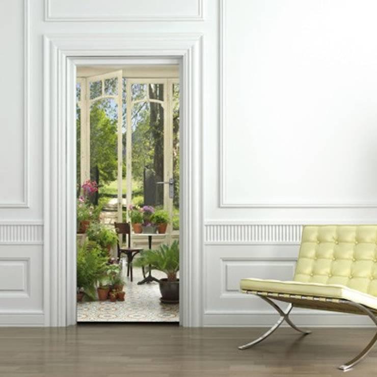 Trompe-l\'oeil pour porte : Jardin d\'hiver von Wall Sweet ...