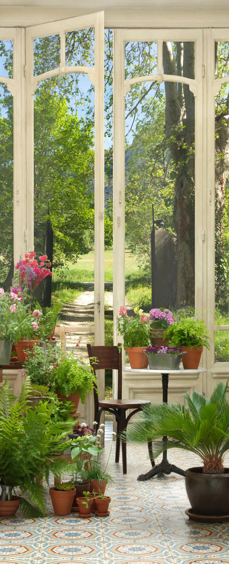 trompe l 39 oeil pour porte jardin d 39 hiver par wall sweet. Black Bedroom Furniture Sets. Home Design Ideas
