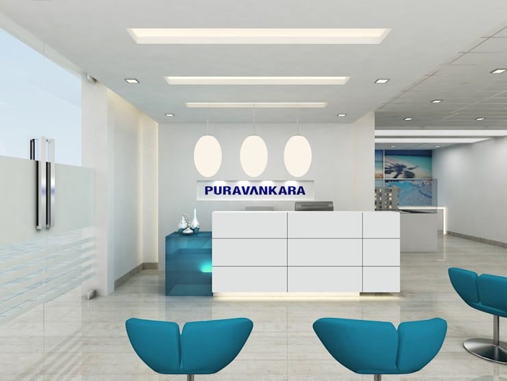 PURVANKARA MARKETING OFFICE, PUNE. (www.depanache.in):  Walls by De Panache  - Interior Architects