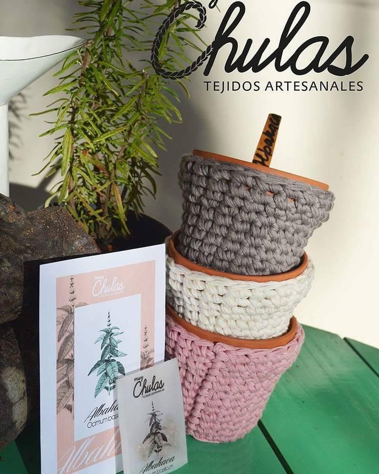 Kit huerta: Jardines de estilo  por Muy Chulas Tejidos Artesanales,