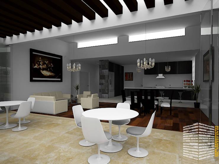 TERRAZA CON PERGOLAS: Casas de estilo  por HHRG ARQUITECTOS