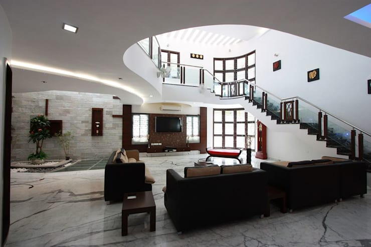 Salas de estilo moderno por Ansari Architects