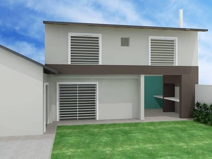 Renderizado: Casas de estilo  por Externa Arquitectura