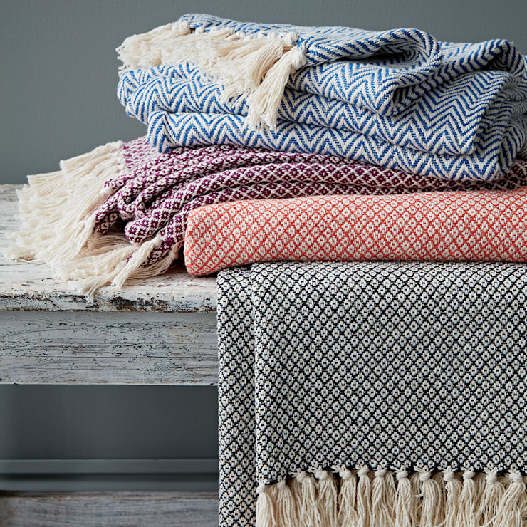 Fairtrade Cotton Throw:  Living room by rigby & mac