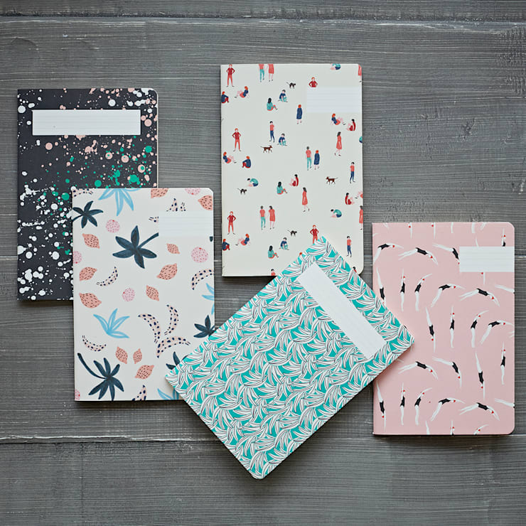Tropical Print A5 Notebook: eclectic Study/office by rigby & mac