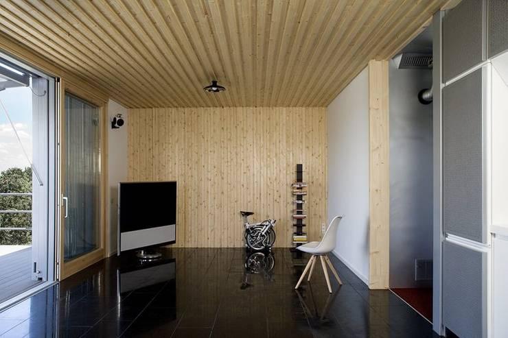 Salas multimedia de estilo moderno por NOEM