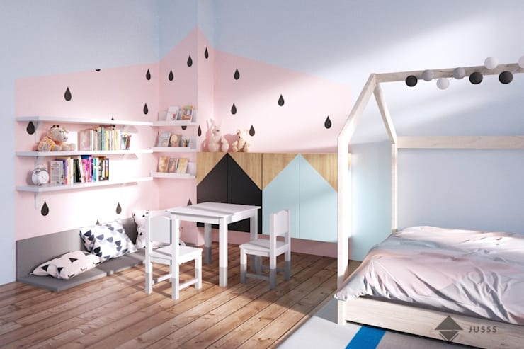 scandinavian Nursery/kid's room by JUSSS