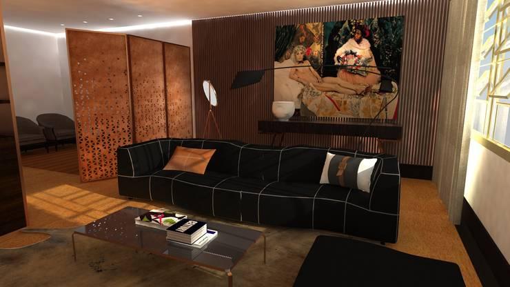 Projecto de Interiores | Remodelação Sala: Salas de estar  por  IDesign.art by Paula Gouveia