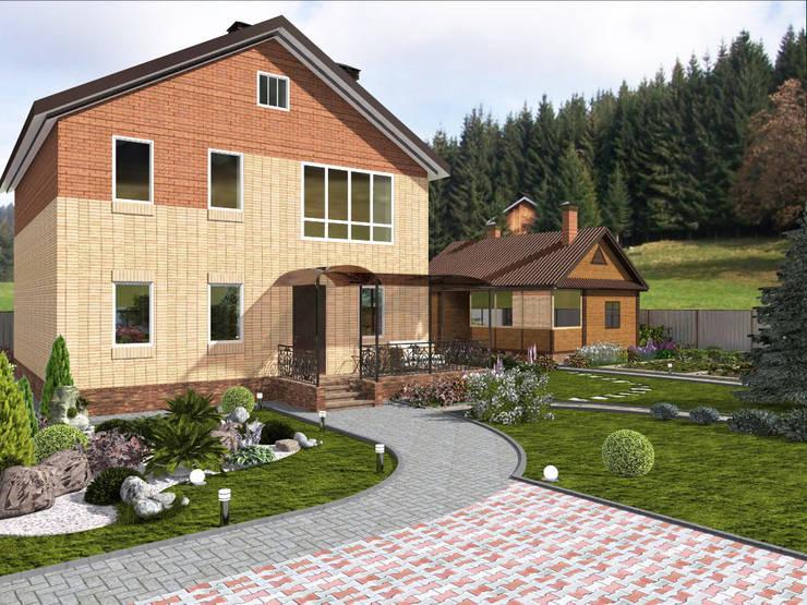 Projekty,  Ogród zaprojektowane przez Студия архитектуры и дизайна Вояджи Дарьи
