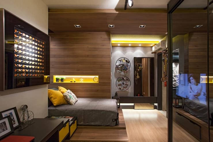 Habitaciones de estilo moderno por Arquitetura Ao Cubo LTDA