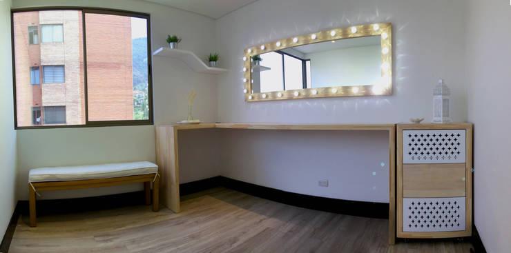 Estudio de maquillaje para Tuti Posada: Spa de estilo  por ALSE Taller de Arquitectura y Diseño