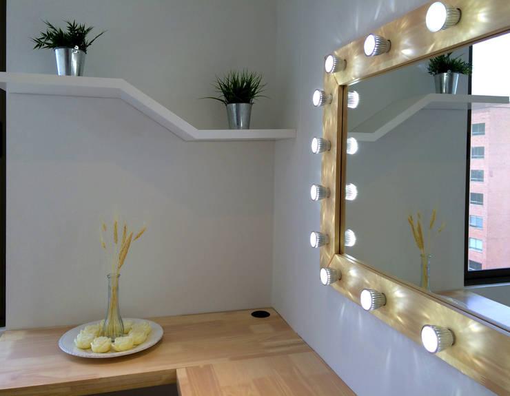 Enrepaño geométrico: Spa de estilo  por ALSE Taller de Arquitectura y Diseño
