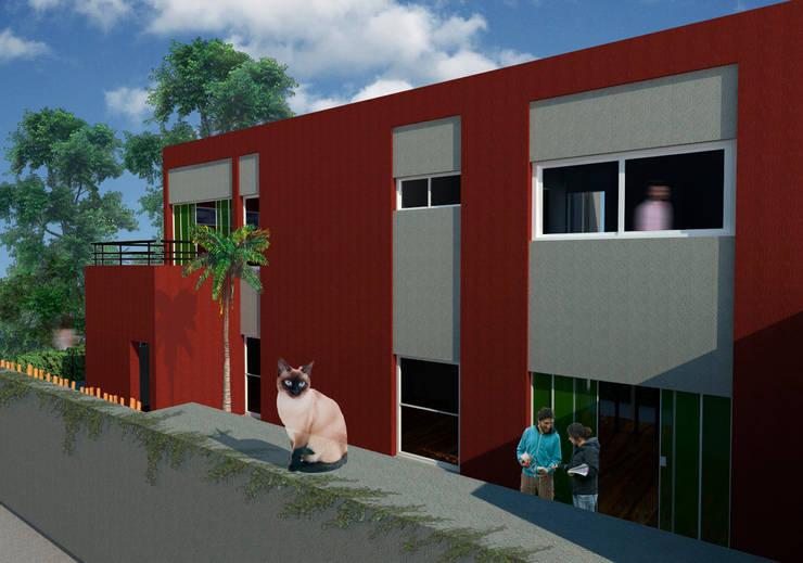 Patio interior de la vivienda:  de estilo  por A3 estudio arquitectura,