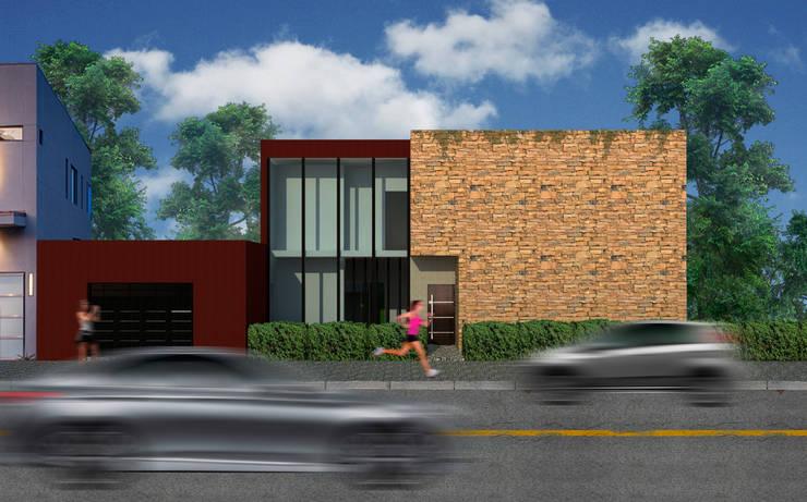 Vista:  de estilo  por A3 estudio arquitectura,