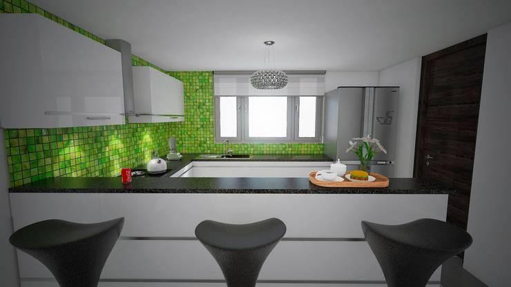 Las Terrazas de San Andres: Cocinas de estilo  por Arquitectura y diseño 3d- J.C.G,