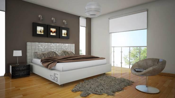 غرفة نوم تنفيذ Arquitectura y diseño 3d- J.C.G