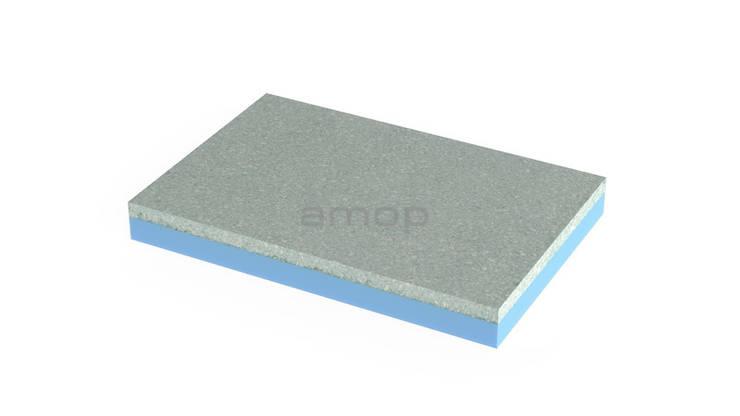 ThermalStone Escuro: Paredes  por Amop