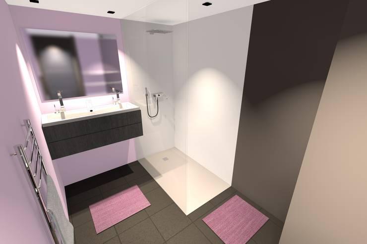 Bagno in stile in stile Minimalista di Concepteur Designer d'Espace - Cyril DARD