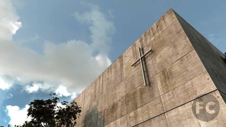 RENDERS Iglesia de la luz:  de estilo  por FOCO
