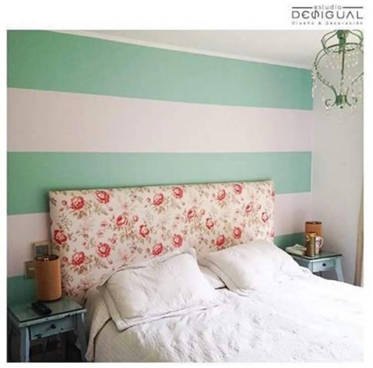 Mural Pieza Principal: Dormitorios de estilo  por Estudio Desigual
