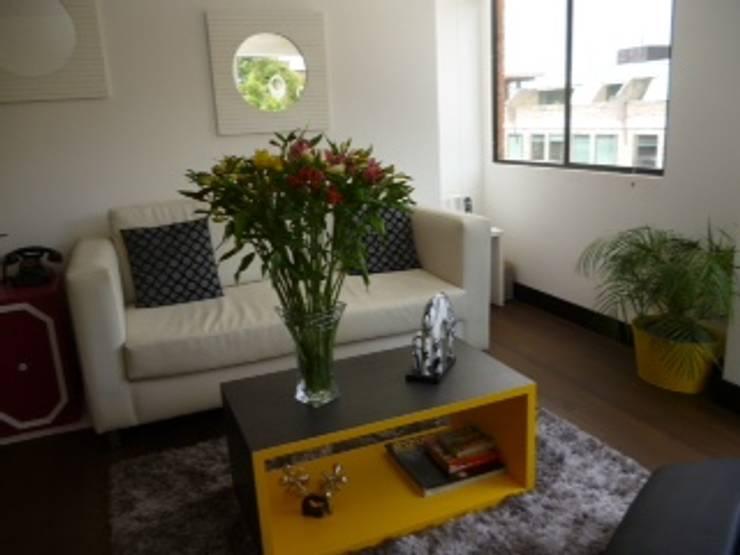 PROYECTO MOBILIARIO HOGAR  APARTAMENTO: Salas de estilo  por La Carpinteria - Mobiliario Comercial