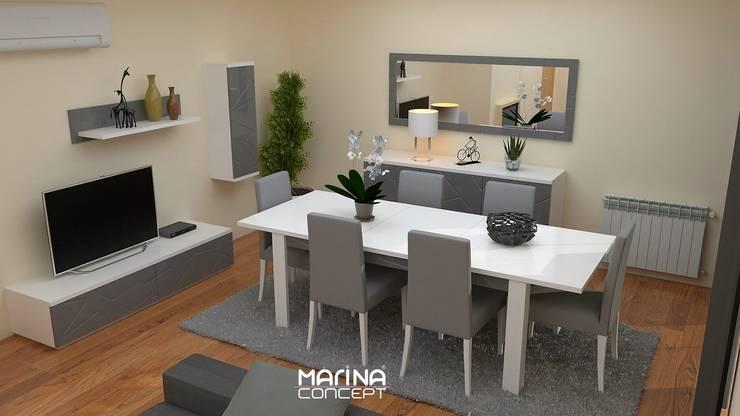Sala de jantar:   por MARINA CONCEPT
