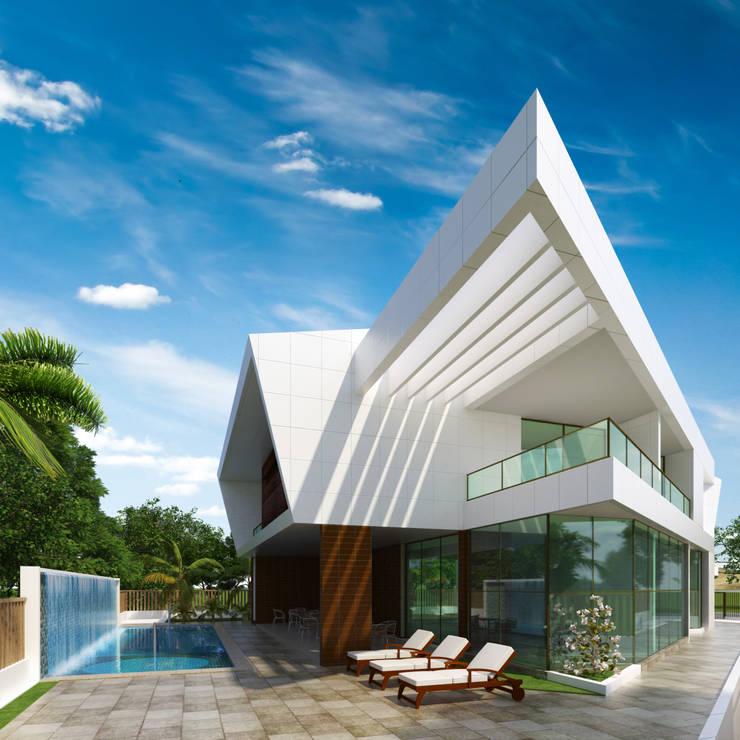 RESIDÊNCIA EM ANGOLA: Casas modernas por Arquitetos Brasil