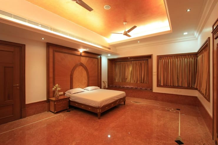 Master bedroom:  Bedroom by Ansari Architects