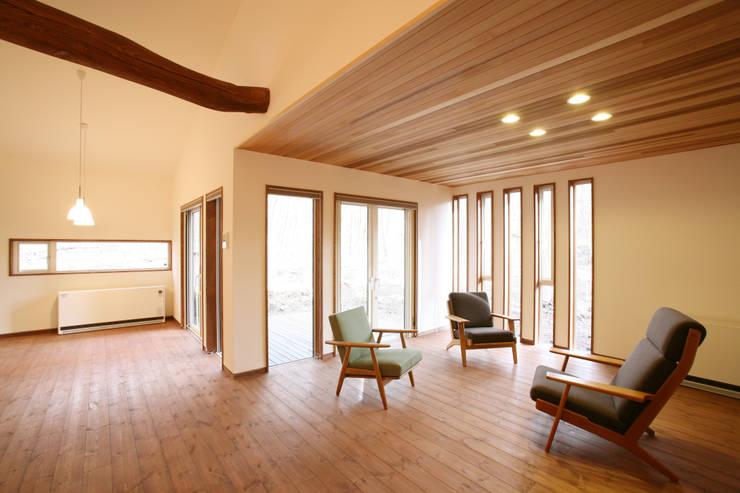 リビング: 一級建築士事務所 アトリエ カムイが手掛けたリビングです。