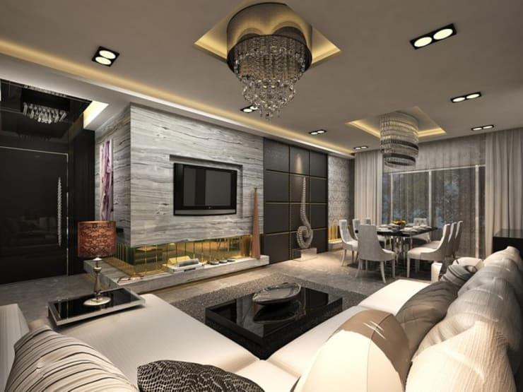 Residential :  Living room by MAPLE studio design